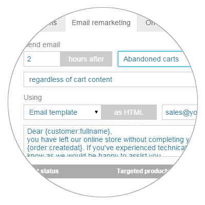 Integrated Cart Abandonment Email Remarketing