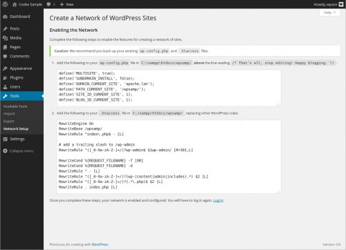 wordpress multisite_install_config network