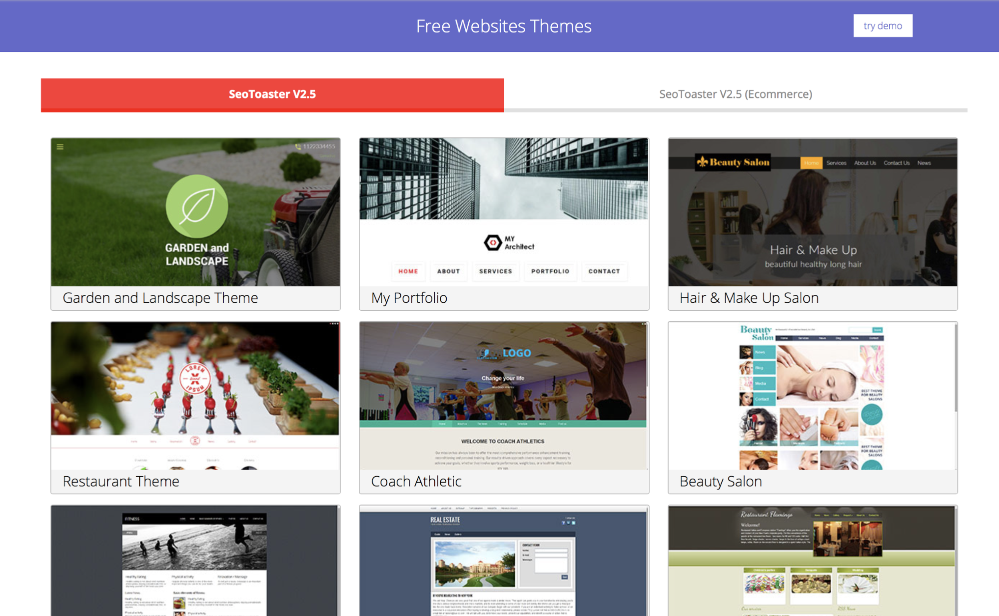 free websites themes