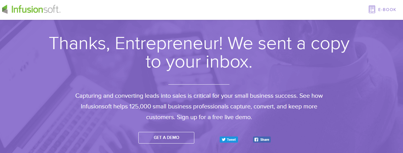 Infusionsoft? Well can create customizable and simple landing pages and webforms