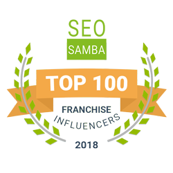 top 100 franchise influencers badge