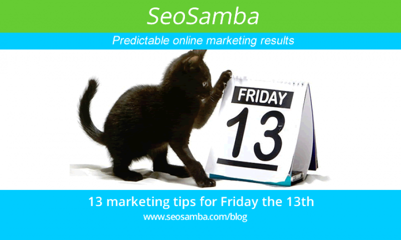 13 Awesome Marketing Tips and Ideas for Friday The 13th