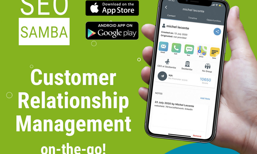 SeoSamba Launches First Mobile CRM App With On-Premise CRM And Multi-location Businesses Support